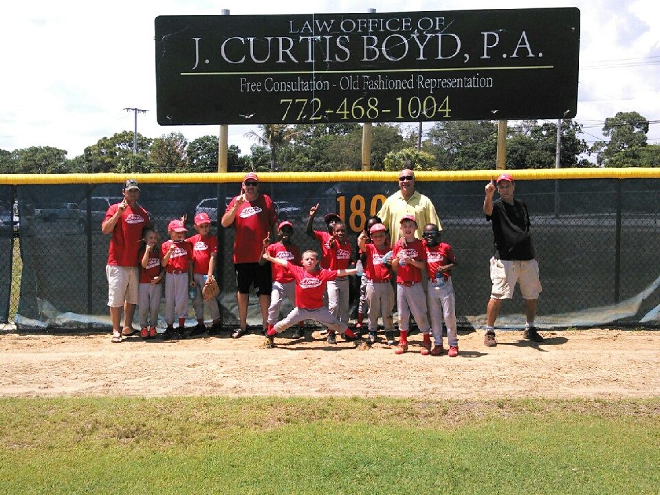 Fort Pierce Little League Rookie Team