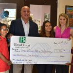 Curtis Boyd donates to Boys & Girls Clubs