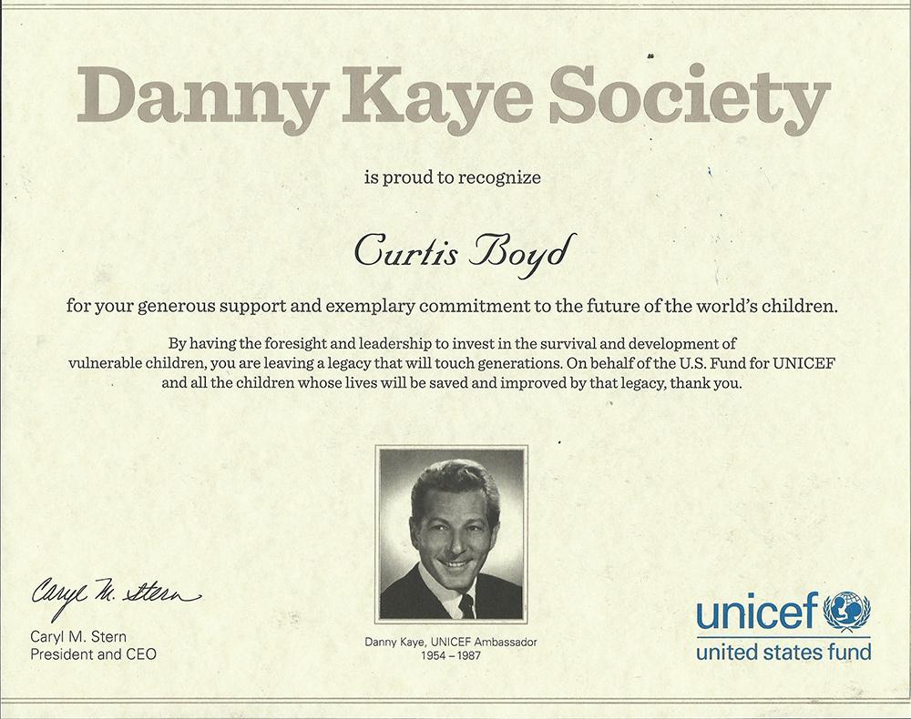 Danny Kaye Society - Unicef